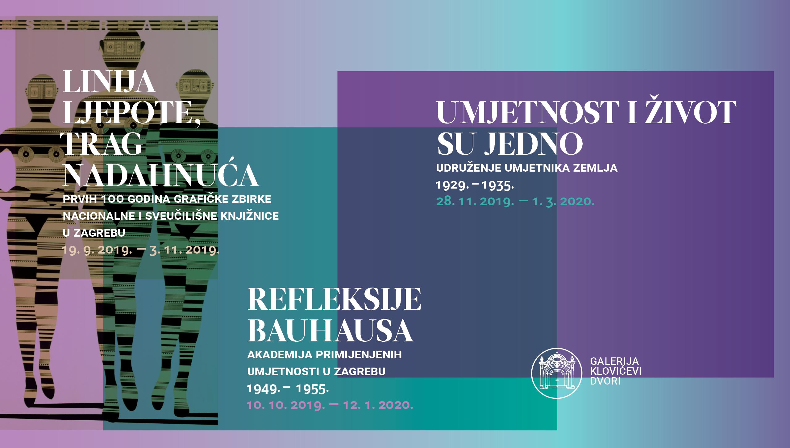 Izložba 'Refleksije Bauhausa: Akademija primijenjenih umjetnosti u Zagrebu 1949. – 1955.' u Klovićevim dvorima